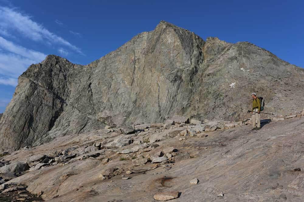 Don descending below Raid Peak