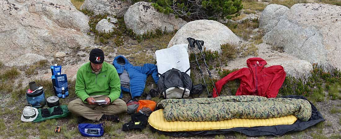 Lightweight Backpacking Gear Checklist for backpacking training