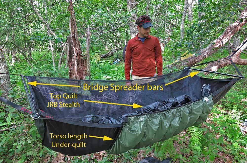 Andrew Skurka inspects a classic bridge hammock: the Jacks R Better Bear  Mountain Bridge with - Hammock Camping - Part II: Types Of Backpacking Hammocks, And Spec