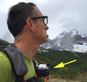 I carried very light digital camera readily accessible on the shoulder strap of my pack
