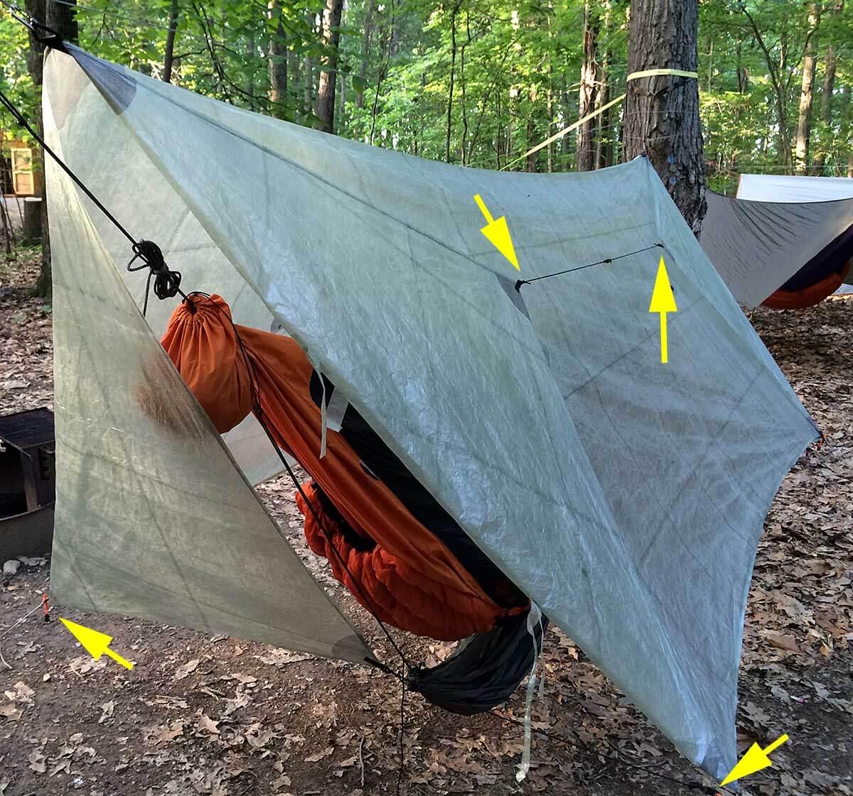 hammock-doors-2-1200 - Great Method To Manage Hammock Tarp Doors - Adventure Alan