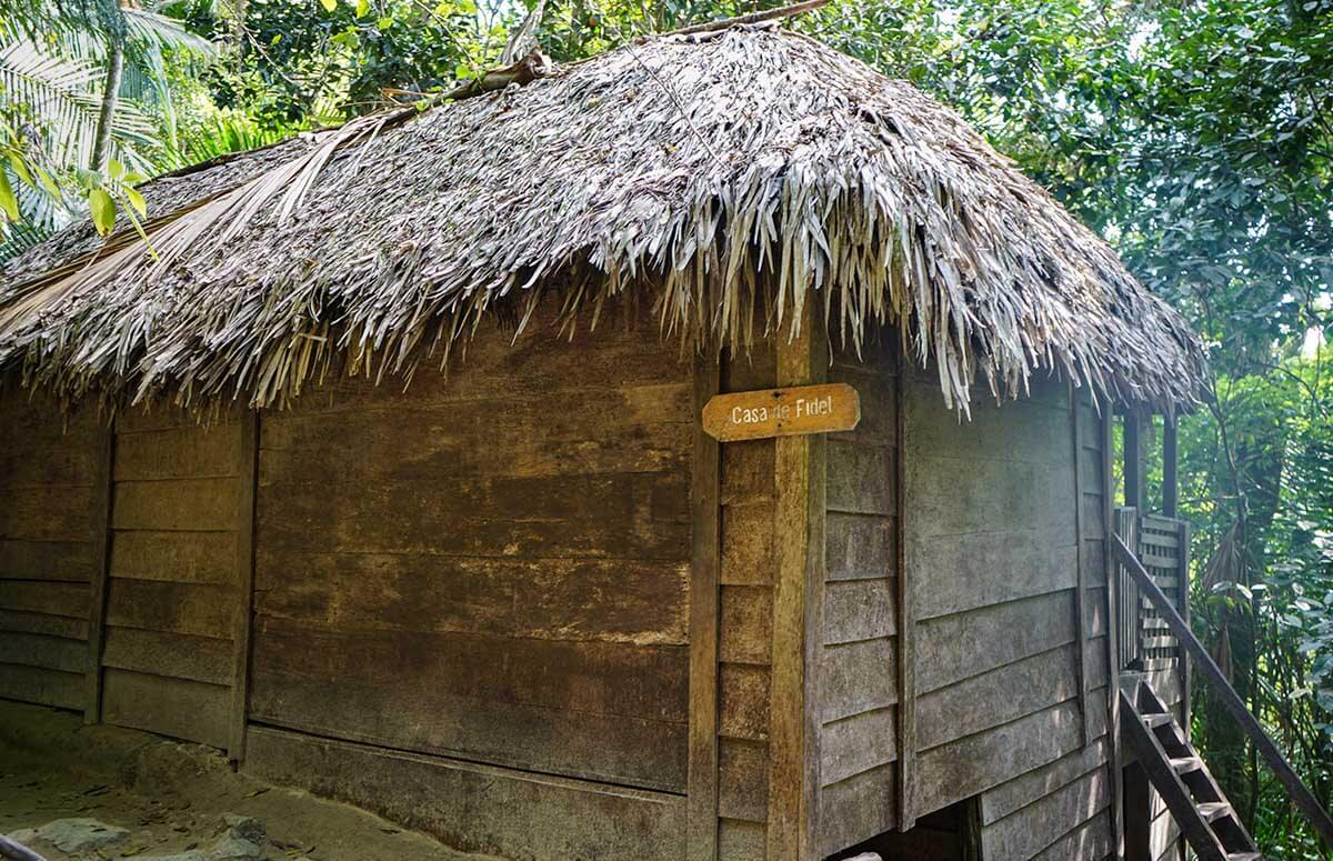 Fidel Castro's house in La Comandancia de la Plata (mountain hideaway and command center).
