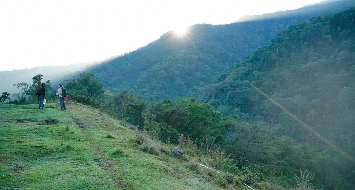 Sunrise start into the Sierra Maestra Mountains.