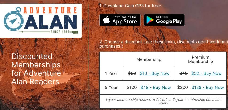 gaia gps membership