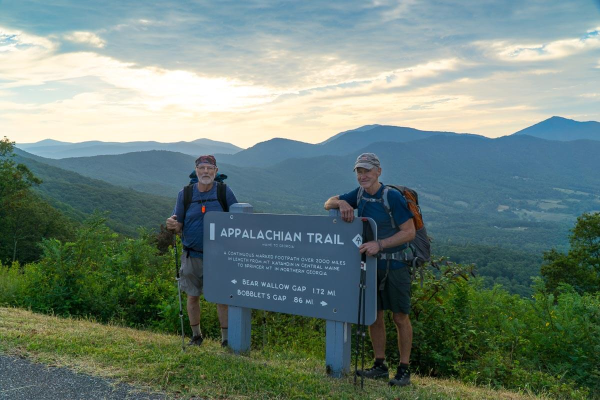 no car needed appalachian trail section hike roanoke to one of the best parts of hiking the at is the interesting people you meet and share the trail pictured are rick elliot and kerry