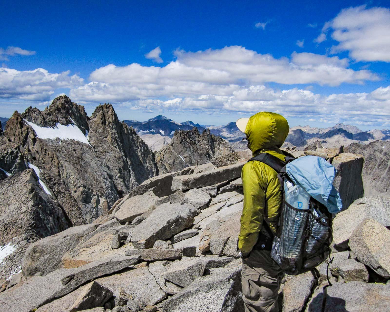 Summit of Mt Sill in Sierra Nevada