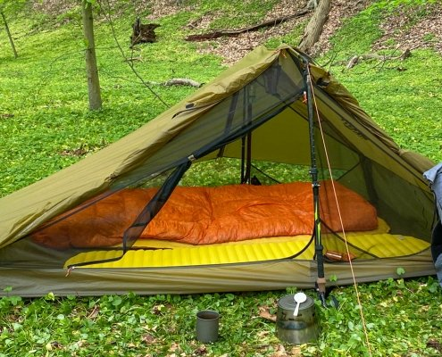 REI Co-op Flash Air 2 Tent Review - pic with tent doors open