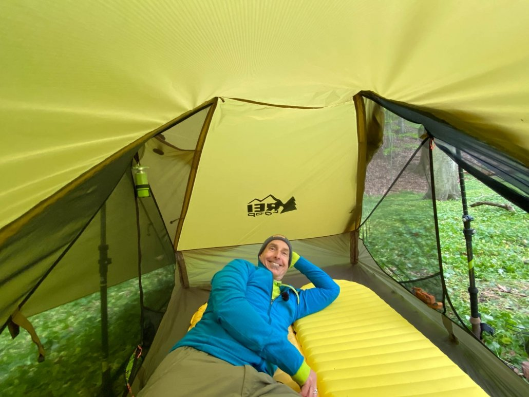 REI Co-op Flash Air 2 Tent Review | inside of tent showing large livable space