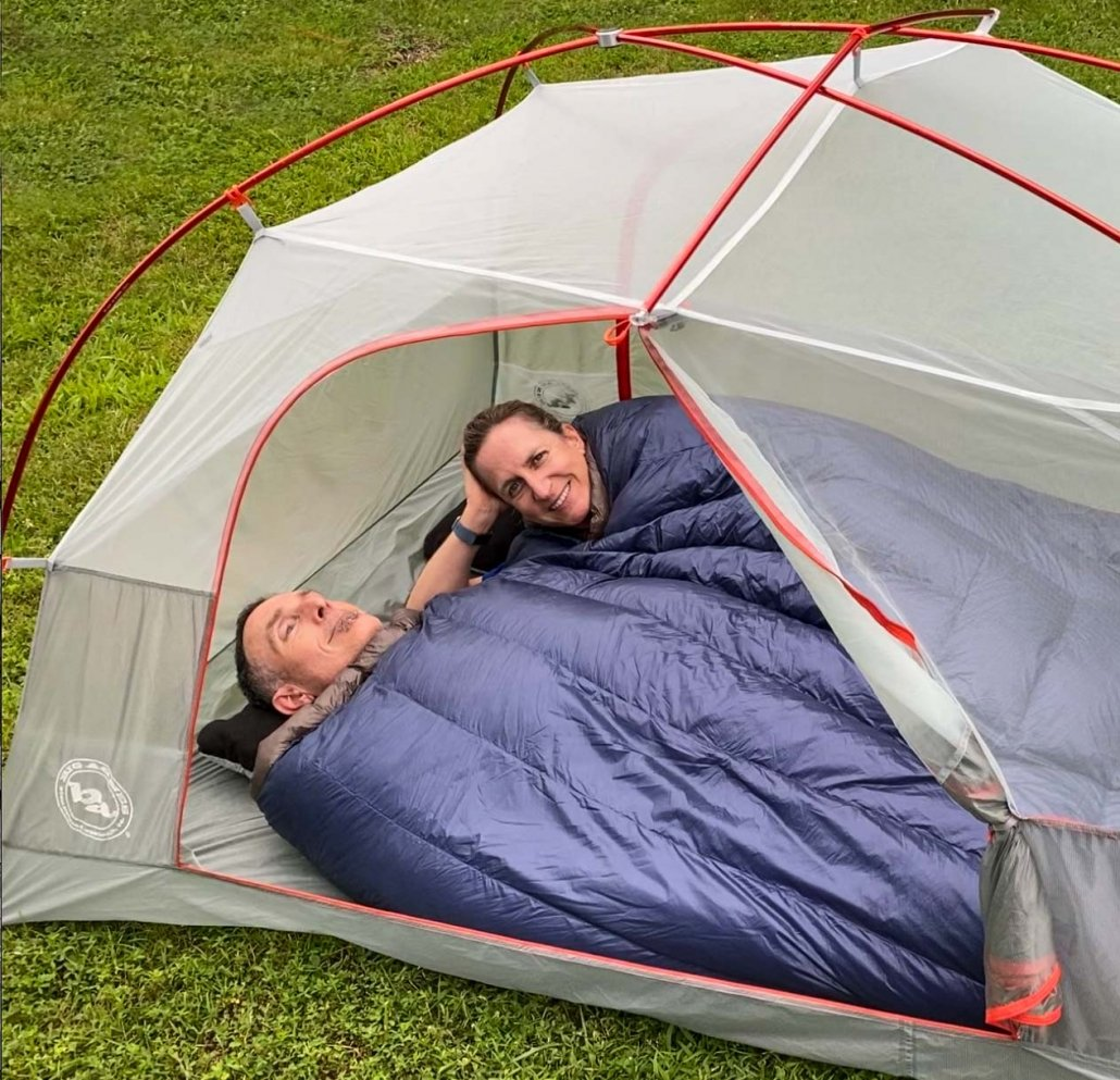 Couples Ultralight Backpacking Gear Tent Choices | double sleeping bag | 2-person tent