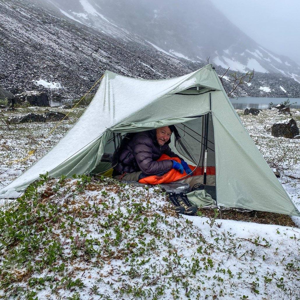 Staying warm in the Dan Durston x-mid 1p tent