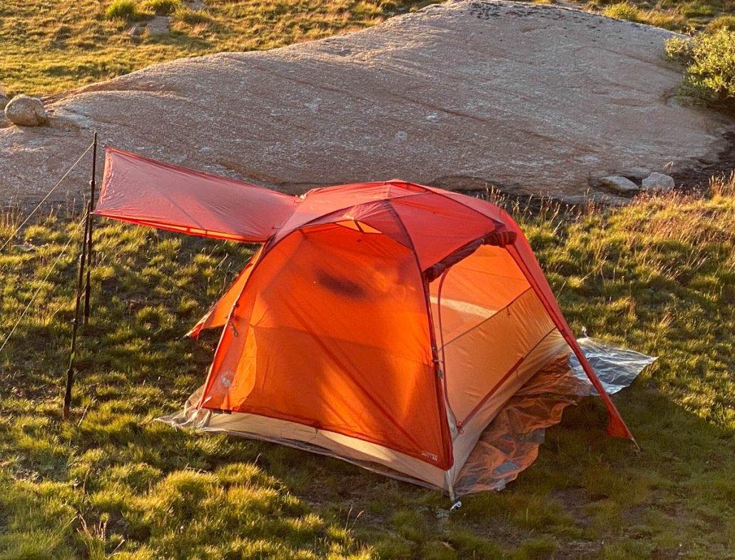 Big Agnes tent fully set up