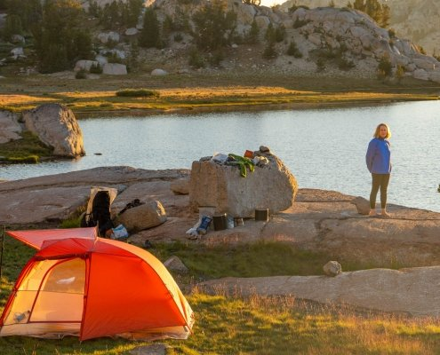2020 Big Agnes Copper Spur HV UL2 Tent beside a lake