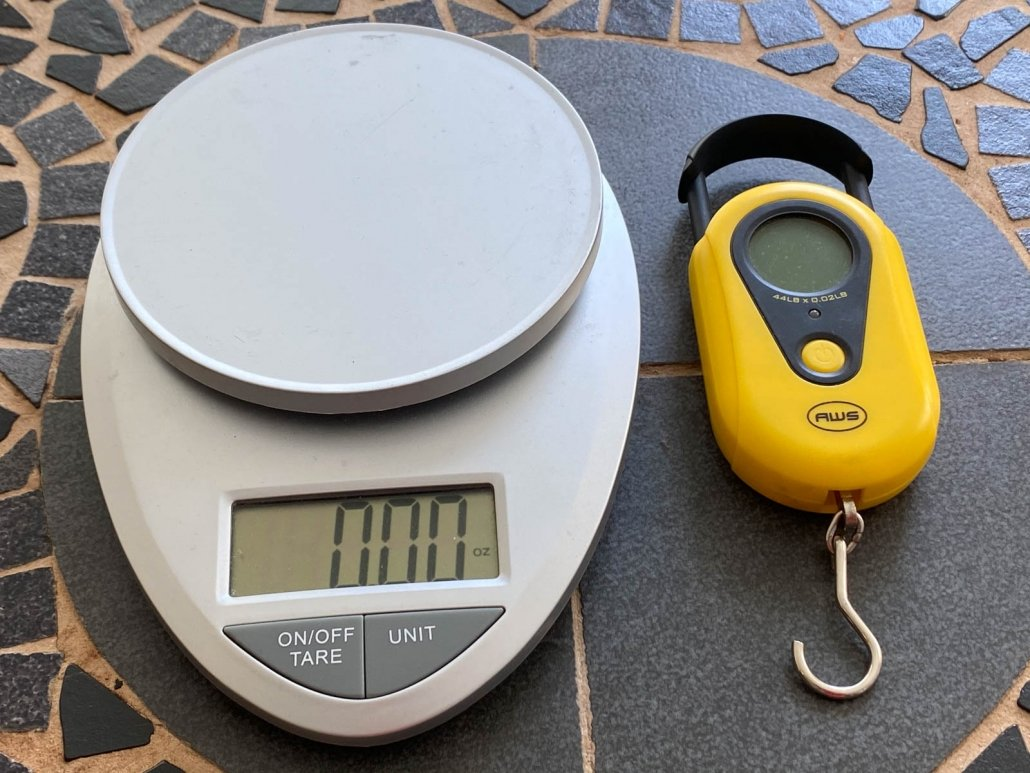 ultralight backpacking food scale and luggage scale