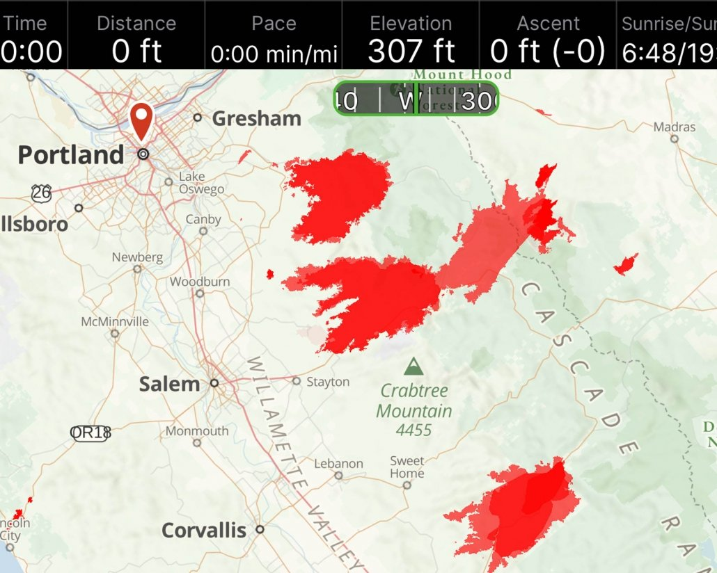 GAIA GPS wildfire map | Wildfire Safety | Hiking & Backpacking