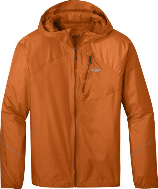 orange Outdoor Research Helium Rain jacket womens and mens