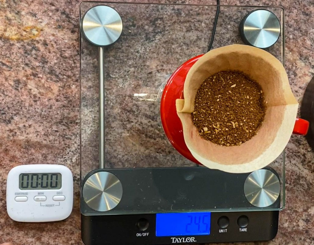 Coffee ready to make backcountry coffee
