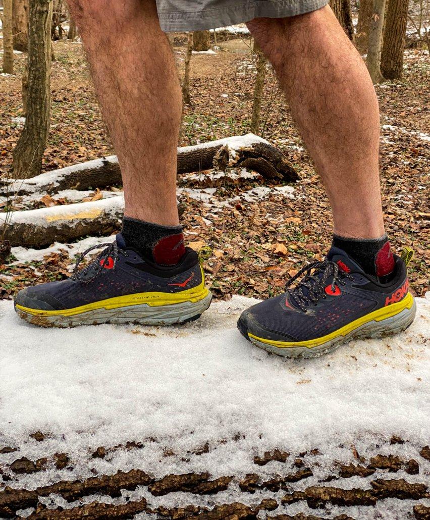 hoka one one challenger atr 6 shoe in snow