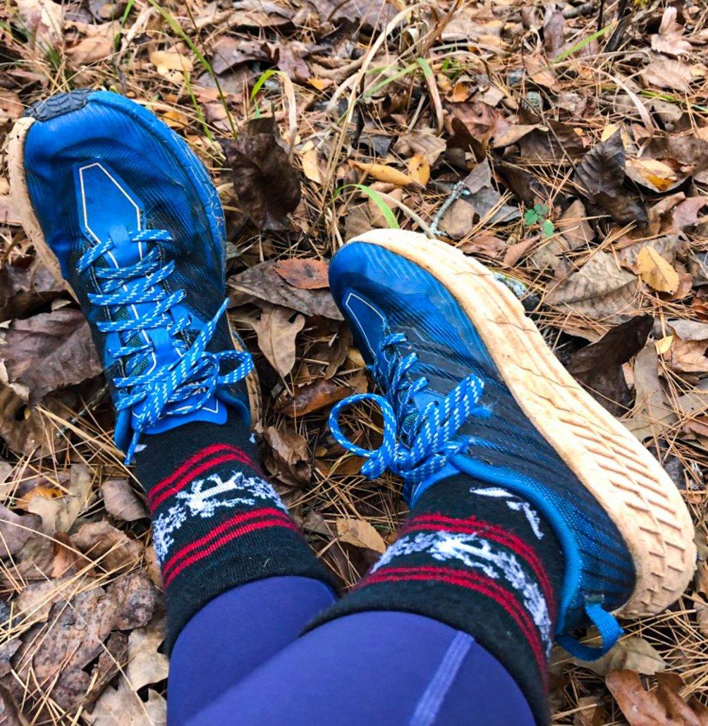 hoka speedgoat on the trail