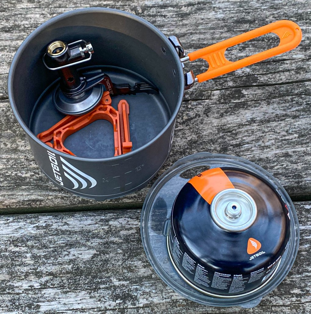Inside of the jetboil STASH stove