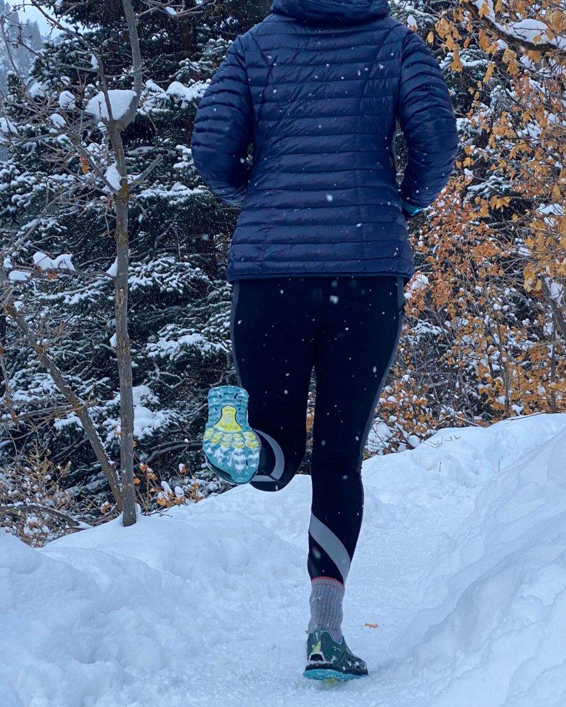 Hi-Tech hiking shoes in the winter