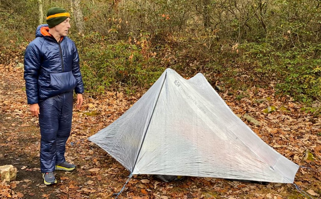 In the field photos Gossamer Gear the DCF One tent