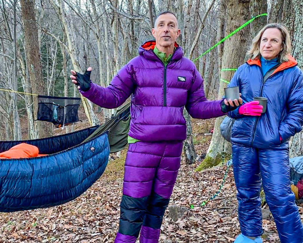 sleeping bag jail. avoid it with warm camp clothes
