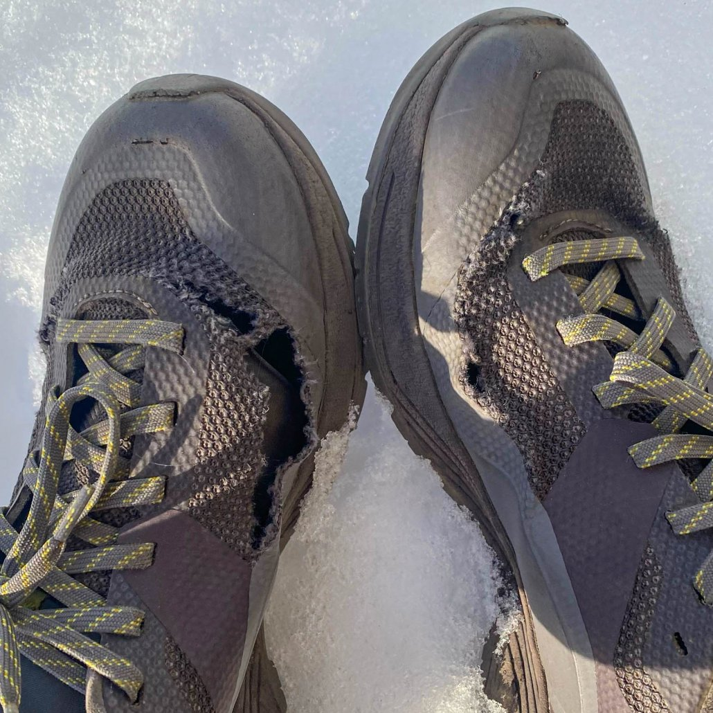 wear on hiking shoes